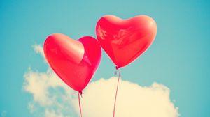 Preview wallpaper balloons, heart, love, sky, lightness