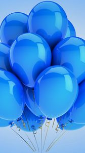 Preview wallpaper balloons, holiday, celebration, blue