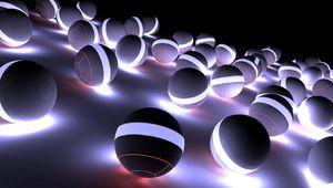 Preview wallpaper balls, neon, light, bright, shadow