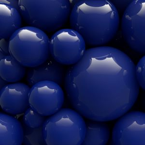 Preview wallpaper balls, blue, smooth, shape