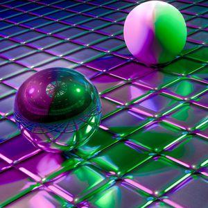 Preview wallpaper balls, cubes, shapes, glitter