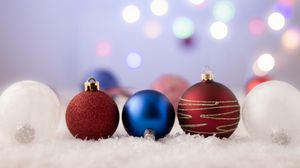 Preview wallpaper balls, decoration, new year, christmas, toys, holiday