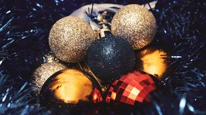 Preview wallpaper balls, decorations, tinsel, new year, christmas