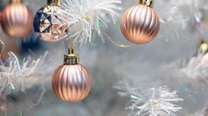 Preview wallpaper balls, decorations, tree, christmas, new year