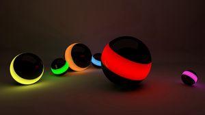 Preview wallpaper balls, lines, neon lights