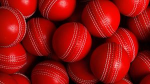 Preview wallpaper balls, red, round, sport