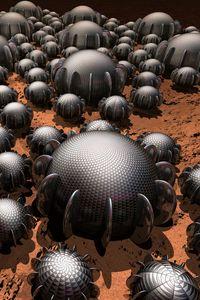 Preview wallpaper balls, shapes, construction, 3d