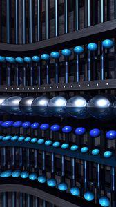 Preview wallpaper balls, shapes, glare, 3d