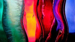 Preview wallpaper band, multi-colored, glass, liquid