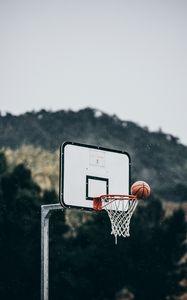 Preview wallpaper basketball, ball, basketball hoop, throw