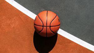 Preview wallpaper basketball, ball, basketball court