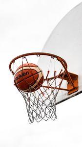 Preview wallpaper basketball, ball, basketball net, basketball hoop, backboard