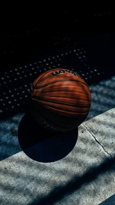 Preview wallpaper basketball ball, basketball, shadow, stripes