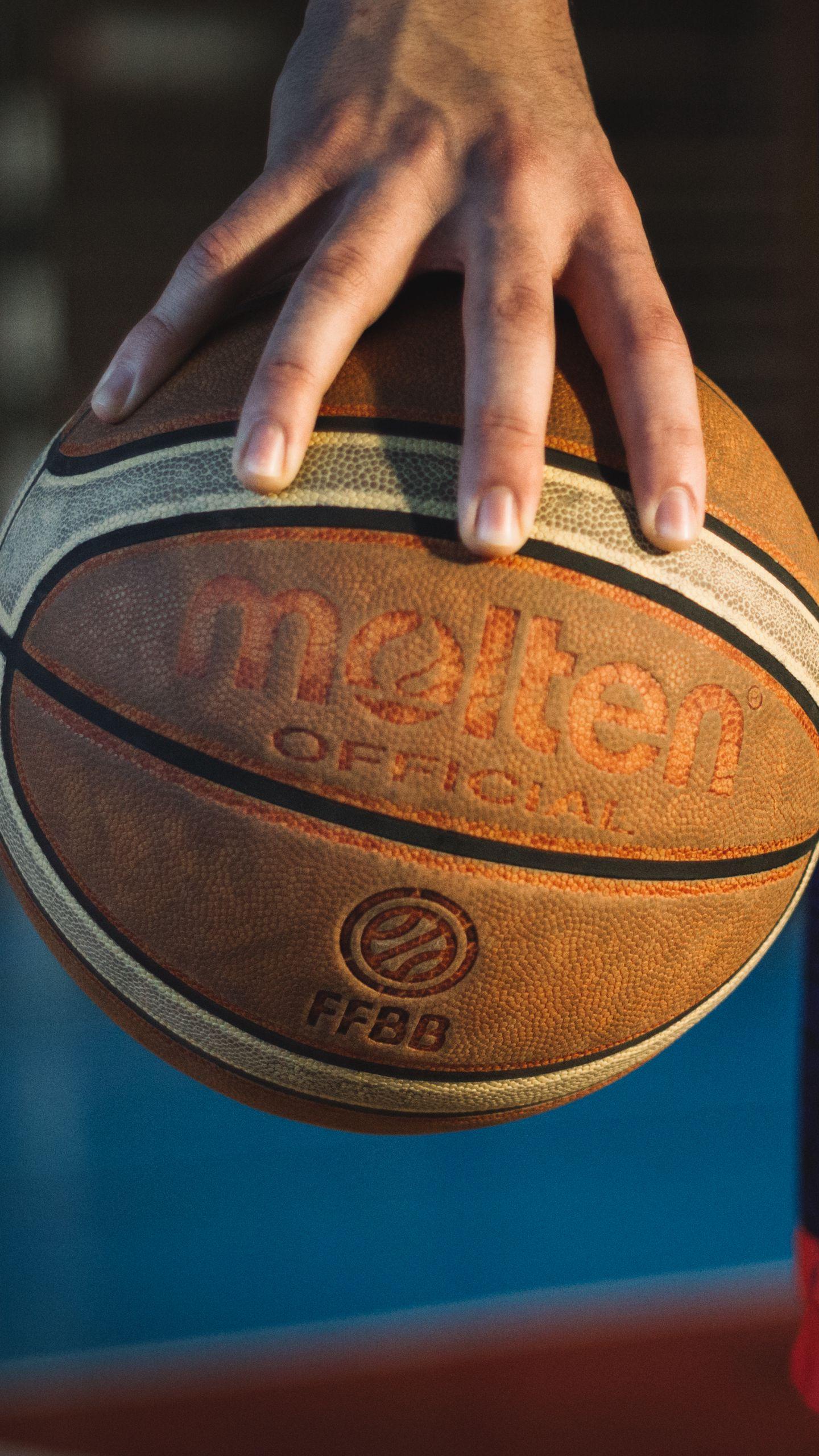 1440x2560 Wallpaper basketball, ball, sport