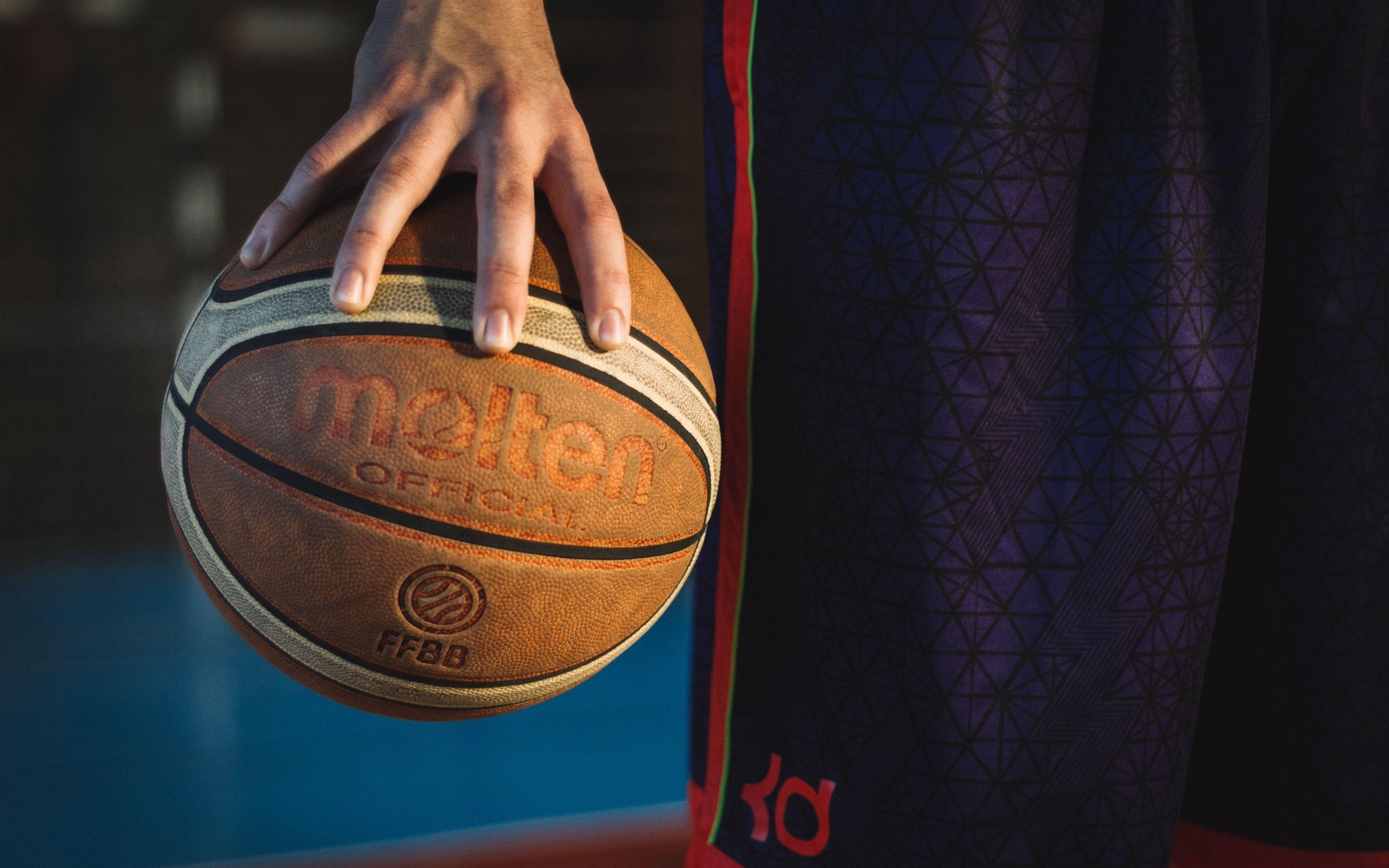 3840x2400 Wallpaper basketball, ball, sport