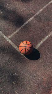 Preview wallpaper basketball, basketball ball, ball, court, marking