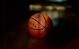 Preview wallpaper basketball, basketball ball, ball, dark