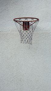 Preview wallpaper basketball, basketball hoop, net, wall