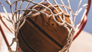 Preview wallpaper basketball, basketball net, ball
