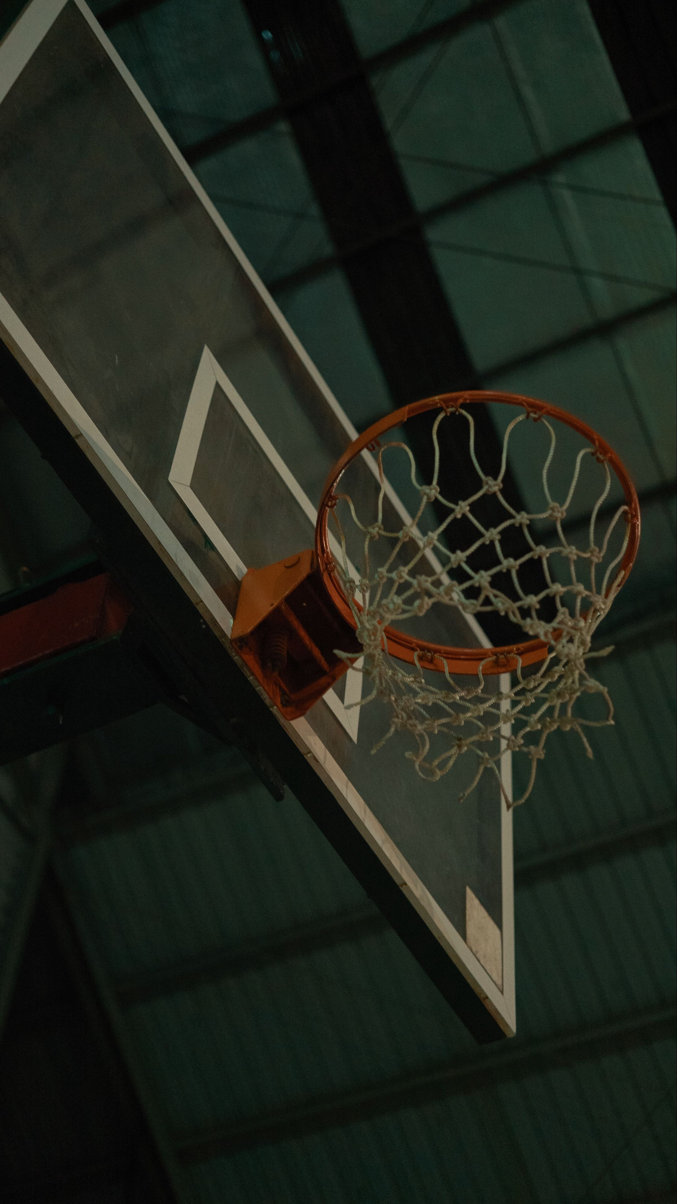 2160x3840 Wallpaper basketball, basketball net, basketball hoop, stadium, basketball backboard
