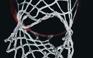 Preview wallpaper basketball, basketball net, basketball hoop, night