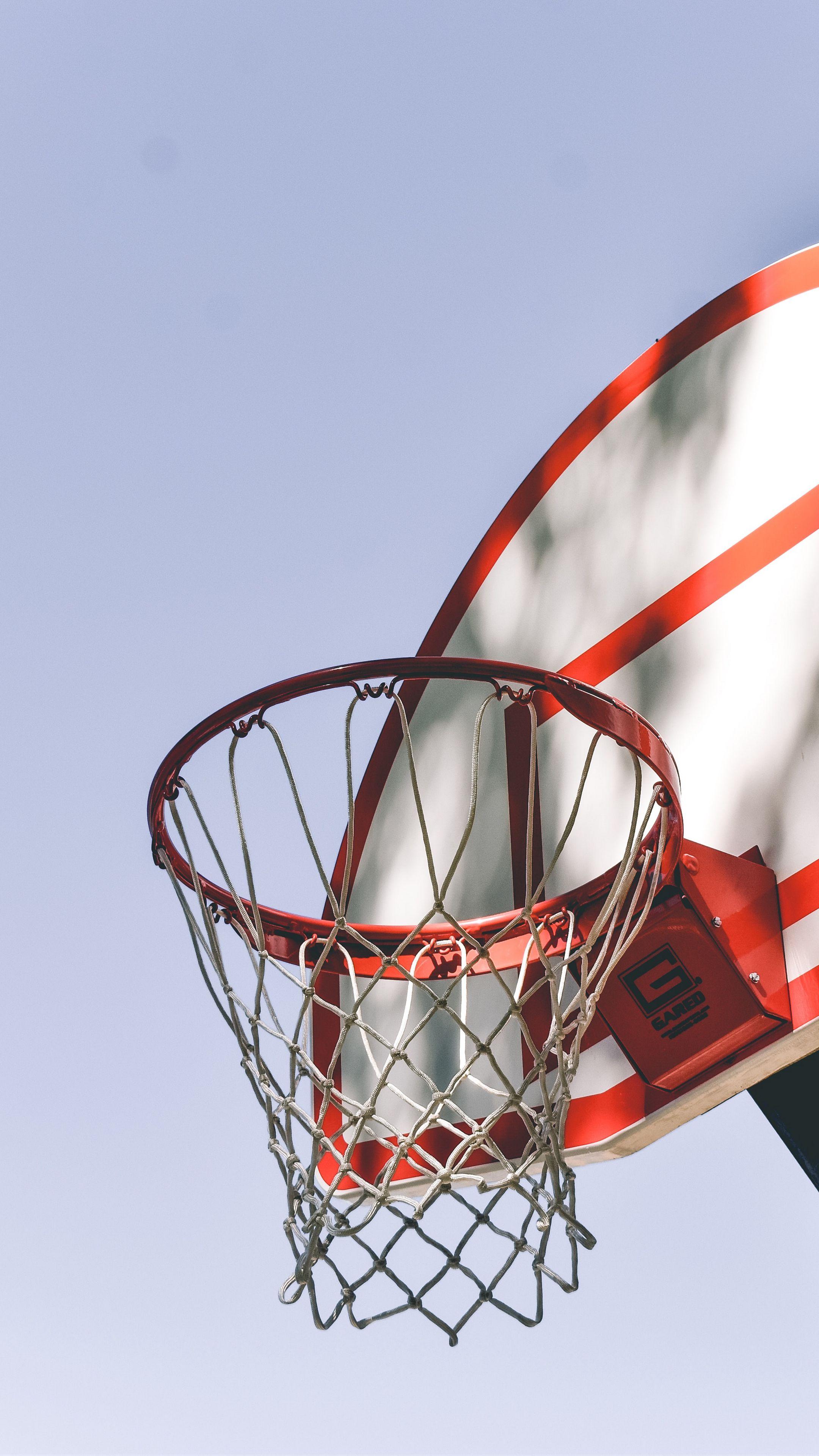 2160x3840 Wallpaper basketball, basketball net, basketball hoop, backboard, metal