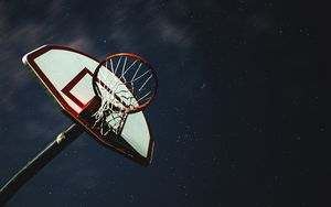 Preview wallpaper basketball, basketball net, basketball hoop, backboard, stars