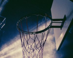Preview wallpaper basketball, basketball net, basketball hoop, basketball backboard, sky