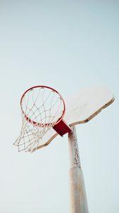 Preview wallpaper basketball hoop, basketball, hoop, sky, sport