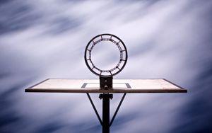 Preview wallpaper basketball hoop, basketball, sport, bottom view