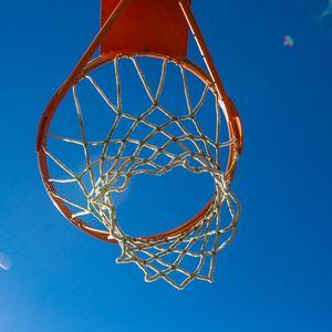 Preview wallpaper basketball hoop, mesh, basketball, sport