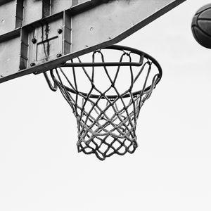 Preview wallpaper basketball, net, ring, bw