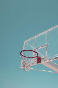 Preview wallpaper basketball ring, basketball net, minimalist, basketball