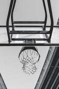 Preview wallpaper basketball, ring, mesh, bw