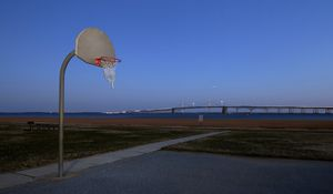 Preview wallpaper basketball, shield, ground