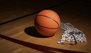 Preview wallpaper basketball, whistle, mesh, sports