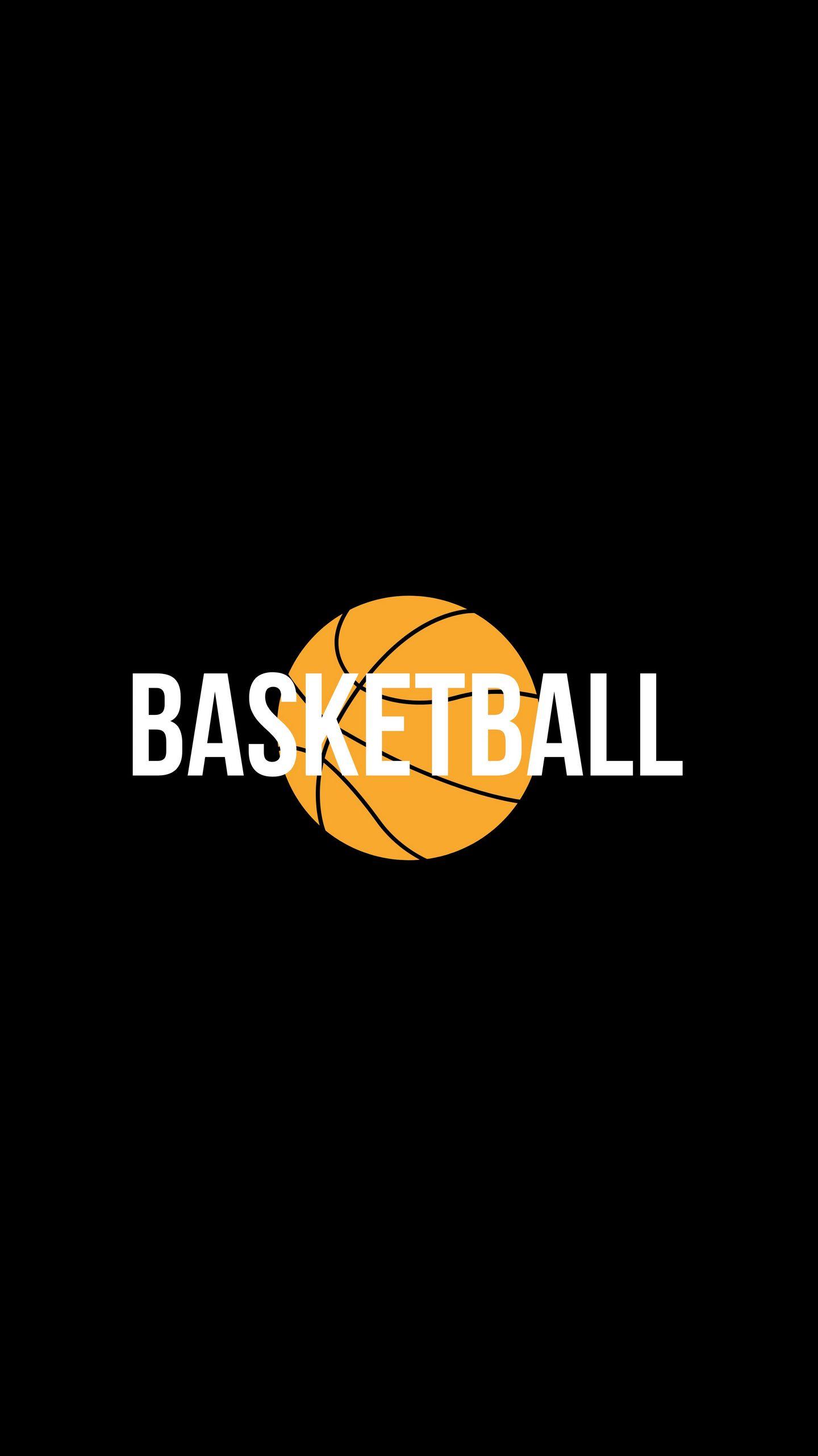 1440x2560 Wallpaper basketball, word, ball, inscription