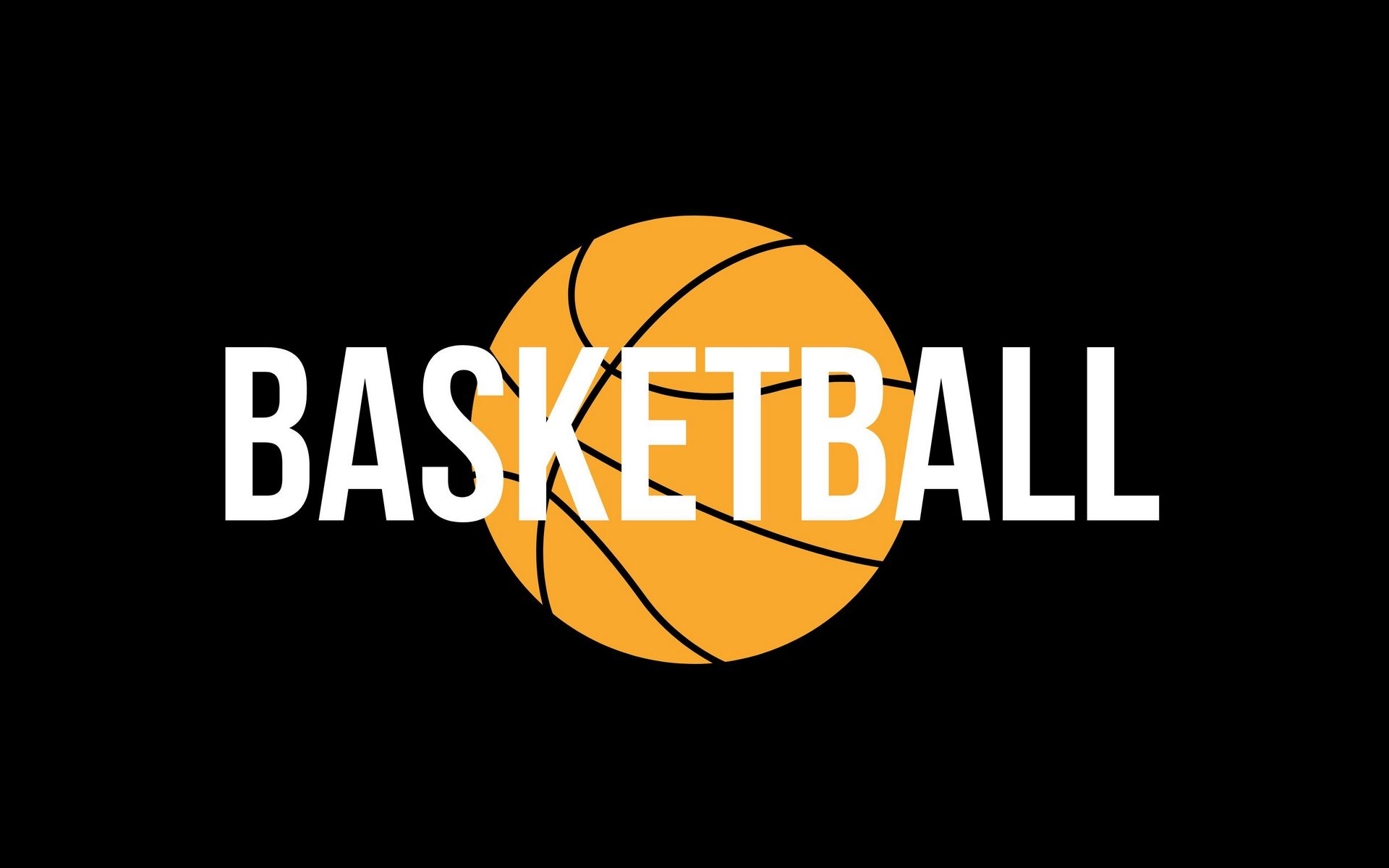 1920x1200 Wallpaper basketball, word, ball, inscription