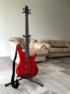 Preview wallpaper bass guitar, guitar, red, musical instrument, music