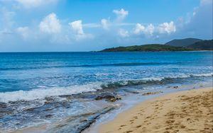 Preview wallpaper beach, sand, sea, waves, summer, landscape