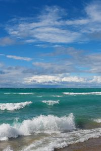 Preview wallpaper beach, sea, waves, landscape