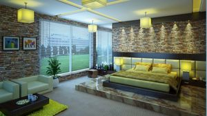 Preview wallpaper bed, luxury, style, modern, design, interior