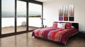 Preview wallpaper bedroom, design, interior, bed, doors, high-tech