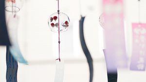 Preview wallpaper bell, ribbons, light, japan