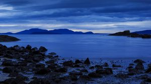 Preview wallpaper bellingham, united states, shore, stones, mountains