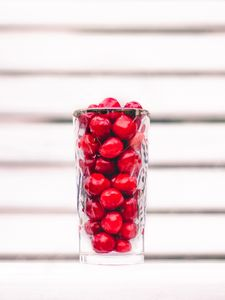 Preview wallpaper berries, fruit, glass, red, white