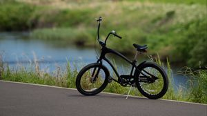 Preview wallpaper bicycle, bike, black, side view
