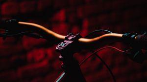 Preview wallpaper bicycle, mtb, dark, red