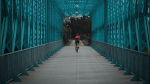 Preview wallpaper bicycle, cyclist, bridge, tunnel