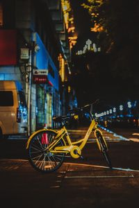 Preview wallpaper bicycle, street, city, evening